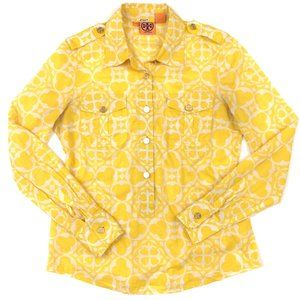 FINAL PRICE Tory Burch Popover Blouse Gold Buttons